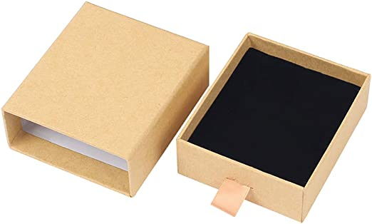 Westeng Caja de Regalo de Moda de Joyería para Anillo Pendientes Pulseras Collares Diseño Especial Organizador de Joyerías de Mujer Cartón Size 7cm*8cm*3cm (Beige): Amazon.es: Juguetes y juegos