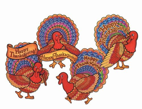 Pkgd Happy Thanksgiving Turkeys   (4/Pkg)