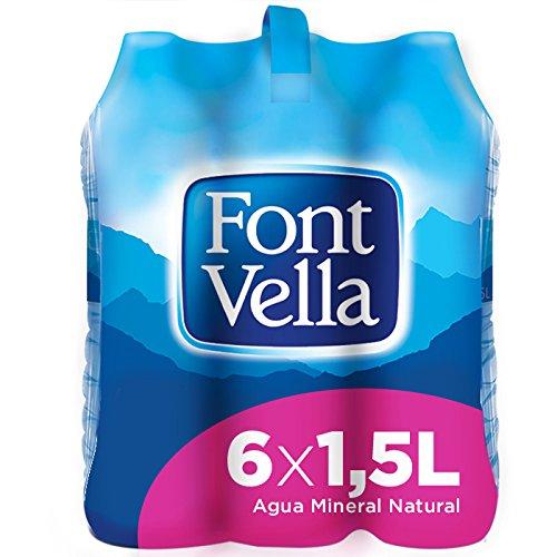 Font Vella Agua Mineral Natural - Pack 6 x 1,5 l: Amazon.es: Alimentación y bebidas