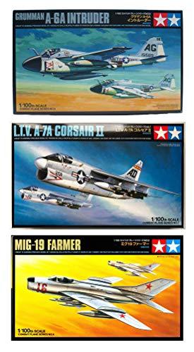 Price comparison product image 3 Tamiya Model Plane Bundle - Grumman A-6A Intruder,  L.T.V. A-7A Corsair II and MiG-19 Farmer (Japan Import)
