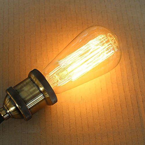 220V//40W Bombilla vintage de 40 W 110//220 V E26//E27 l/ámpara de globo incandescente