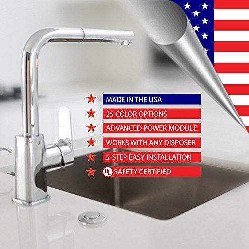 Garbage Disposal Sink Top Air Switch Button for Thicker and Standard Counter Tops. Available in 25+ Finishes Matching any Faucet. Universal Fit Unit. MODEL # ASBO (Standard 2-Inch, Pewter) by NORTHSTAR DECOR (Image #2)