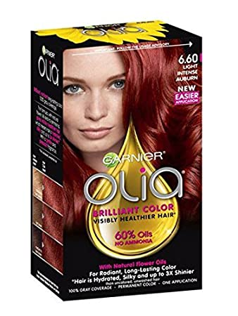 Amazon Garnier Olia Hair Color 660 Light Intense Auburn