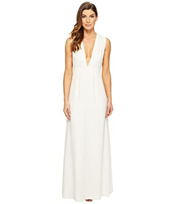 51afb173672 Amazon.com  Jill Jill Stuart Women s Deep V Side Cutout Satin Gown  Clothing