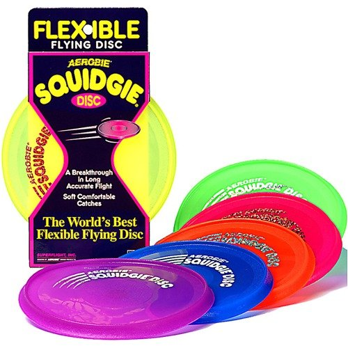 (Aerobie Squidgie Disc - 10 inch Flying Ring Select Color: Blue)