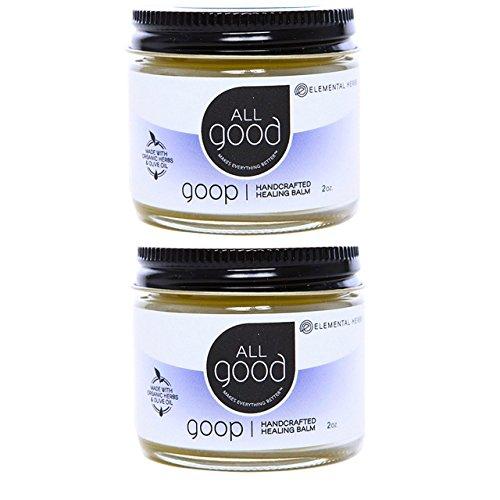 All Good Goop Organic Healing Balm, 2 oz (2 Pack)