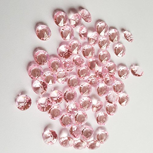 ElE&GANT 2000Pcs 6.5mm PINK Acrylic Diamond Gems Crystal Rocks For Table Scatter Or Table Confetti