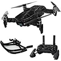 MightySkins Skin for DJI Mavic Air Drone - Black Marble | Max Combo Protective, Durable, and Unique Vinyl Decal wrap cover | Easy To Apply, Remove, and Change Styles | Made in the USA