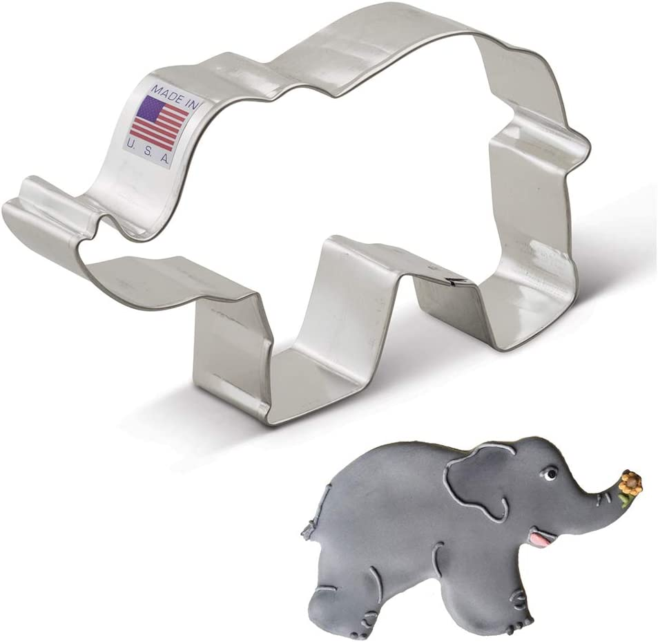 Random color-AD Elephant-Shaped Sandwich Cutter Cookie Biscuit Cutter
