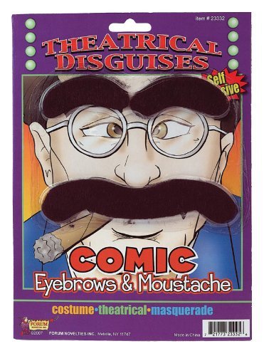 Forum Novelties Comedian Eyebrows and Moustache,Multicoloured,One