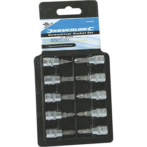 Silverline Screwdriver Socket Set 1/4