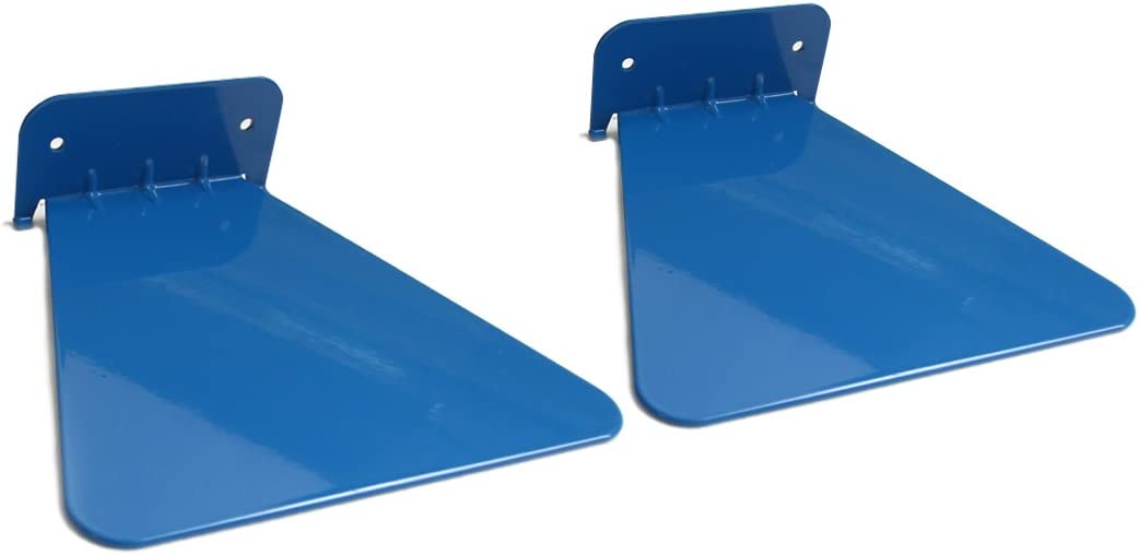 Metal invisible concealed bookshelf Set of 2 blue