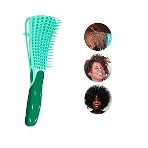 Detangling Hair Brush for Thick Hair,African American Hair Brush for Women Detangler Brush for Curly Hair,Natural Black Hair,3a/4b/4c Hair and Fine Hair for Kids and Women(Green)