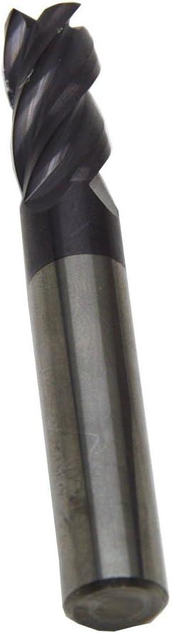 Wokesi 0.9mmDia,4mmShank,50mmOAL,HRC55,2Flute,TiAlN Coated Solid Carbide Flat End Mills Square Endmills CNC Router Bits Cutting Tools for Slotting Milling Profiling 0.9mmDia/×4mmShank/×50mmOAL