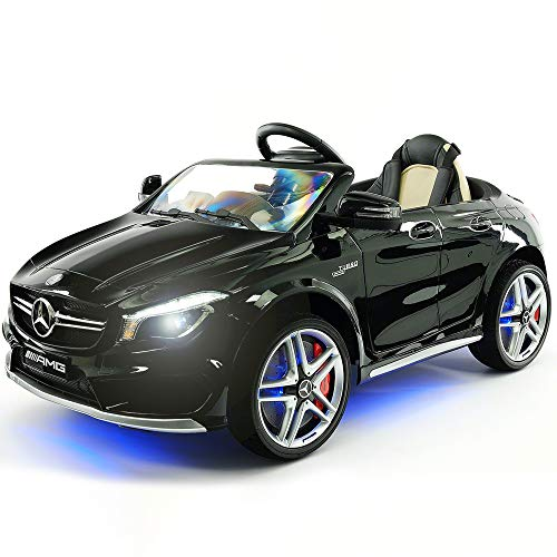 2019 Mercedes Benz CLA 12V Ride On Car for Kids | 12V Engine Power Licensed Kid Car to Drive with Remote, Dining Table, Leather Seat, Doors Open, LED Lights