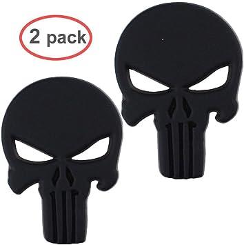Electrely Punisher 3d Metall Aufkleber Auto Sticker Autosticker Autoaufkleber Decal War Zone Totenkopf Skull 2 Pcs Auto