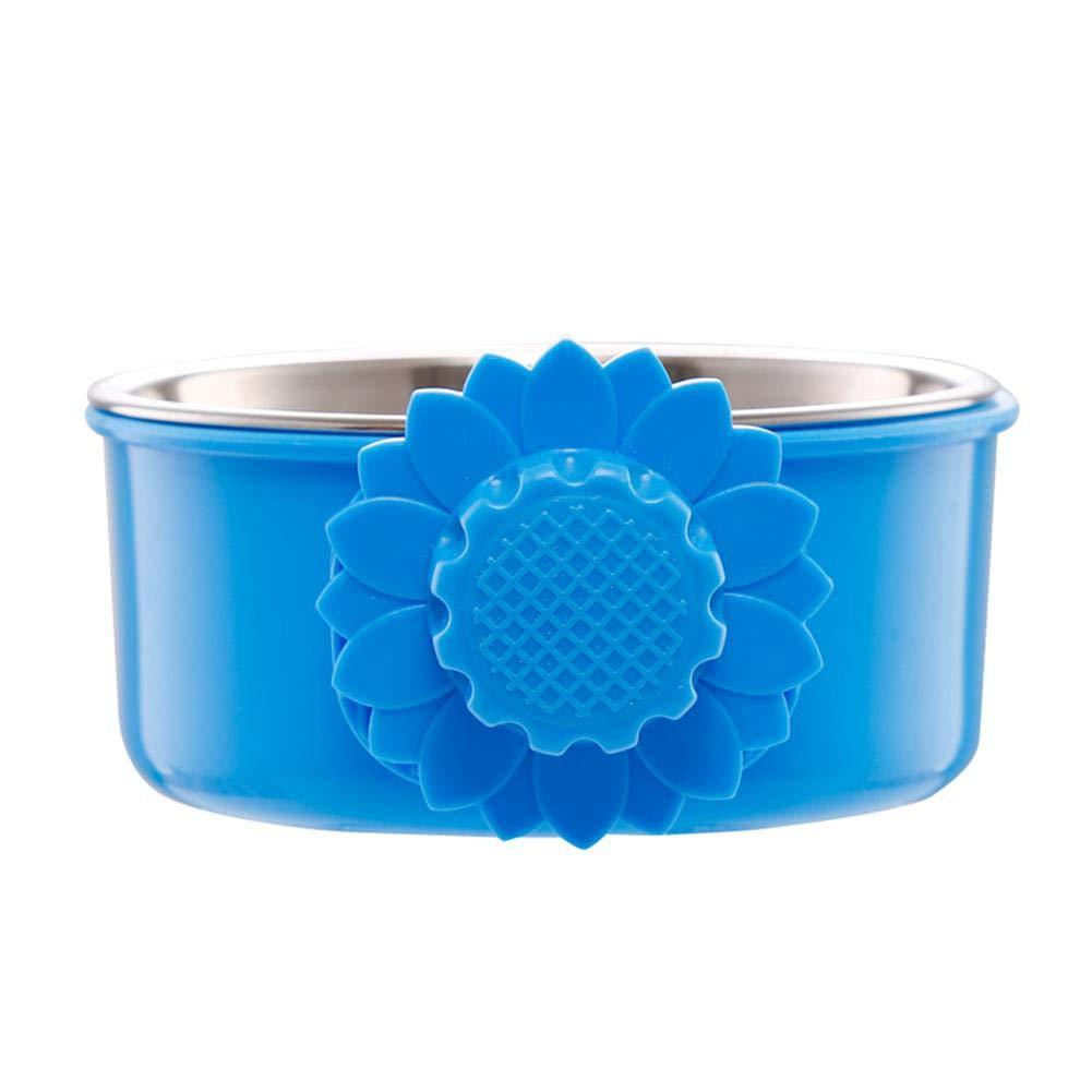AOLVO Pet Bowl, 2-in-1rimovibile in acciaio INOX Pet ciotole gabbie, da appendere, cuccia, Small Crate feeder piatto acqua cibo mangiatoia per gatto, coniglio, uccello, criceto, Shitzu, Ferret