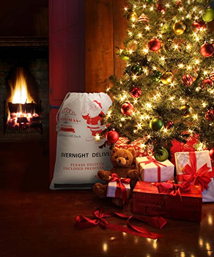HOOPLE X'mas Present Sacks Christmas Bags for Kids Personalize Christmas Gift Wrap Santa Sacks (Random-6 packs) by Hoople (Image #6)