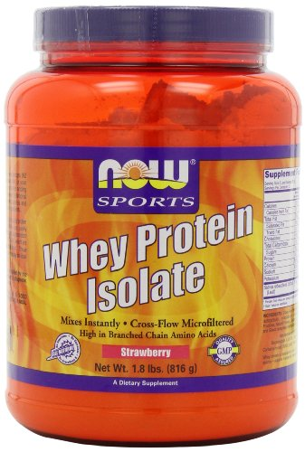 Now Foods isolat protéique de lactosérum, fraise, 1,8-Pounds
