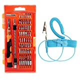Soucolor 59 in 1 Magnetic Driver Kit, Precision Screwdriver Set with 54 Bit, Anti-static Wrist Strap, Electronics Repair Tool Kit for iPhone, Cell Phone, Tablet, iPad, PC, Laptop, MacBook