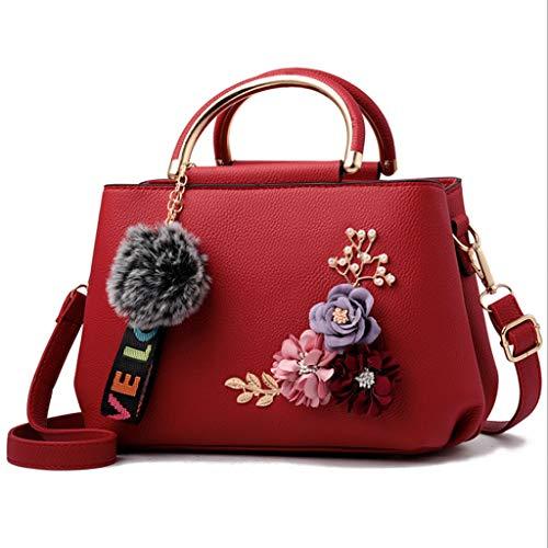Slung Fashion 26x18x13cm 13cm ZXW 7 Handbag ricamata Nero Colore 26 Borsa Shoulder colori Handbag Vino 18 Simple Rosso Dimensioni qgqfwpX