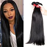 Cheap HEBE Peruvian Virgin Hair Straight 3 Bundles 16 18 20 Unprocessed Human Hair Extensions Straight Peruvian Hair Bundles Weave Hair