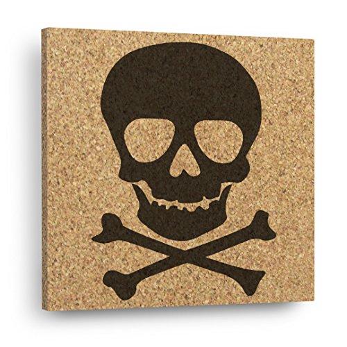 SKULL & CROSSBONES - Mix & Match Cork Decor Art Tiles Or Kitchen Trivet - Wall DéCork