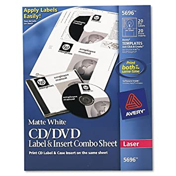 Amazon avery 5696 cddvd labeljewel case insert combo sheets avery 5696 cddvd labeljewel case insert combo sheets laser 20 saigontimesfo