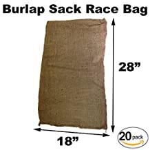 "Burlap Bags for Sack Races- Child Size - 18"" x 28"" (20 Pack)"