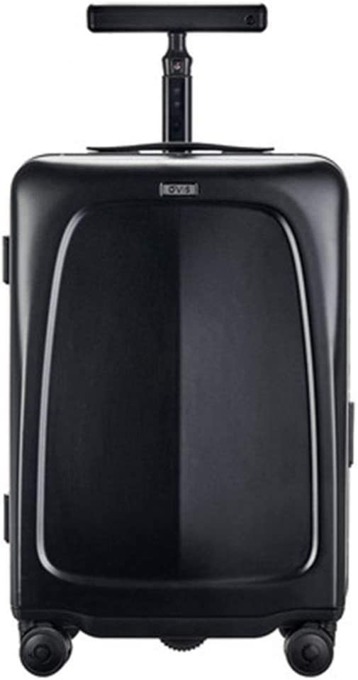 CHEER.COM Maleta Eléctrica De 20 Pulgadas Equipaje Scooter HD Photo Seguimiento Automático De Equipaje Inteligente Maleta Inteligente Maleta para Niños Maleta Que Te Sigue con Carga USB,Black
