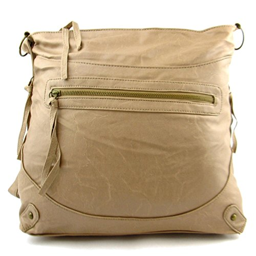 Bag A4 body Large UK Long NEW Shoulder Handbag Beige Ladies Across Zarla Satchel Strap Women wxqIY0wC