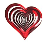 Shipityourway 3D Wind Spinner Heart Whirligig Twister with Swivel (6.5