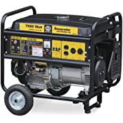 Steele Products SP-GG750EC, 6000 Running Watts/7500 Starting Watts, Gas Powered Portable Generator, with Wheel...