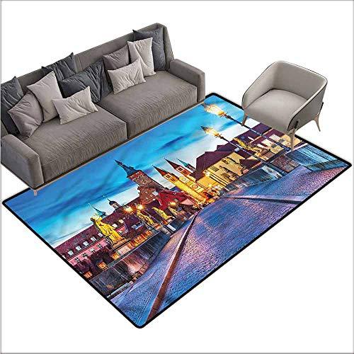 Print Floor Mats Bedroom Carpet Urban,Bavaria Germany Bridge 60