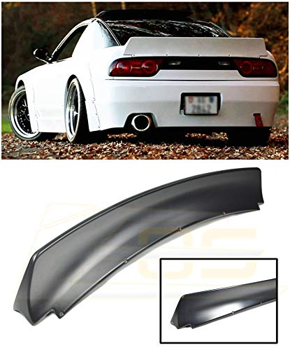 for 1989-1994 Nissan 240SX S13 Hatchback | EOS Rocket Bunny Style ABS Plastic Primer Black Rear Trunk Lid Wing Lip Spoiler