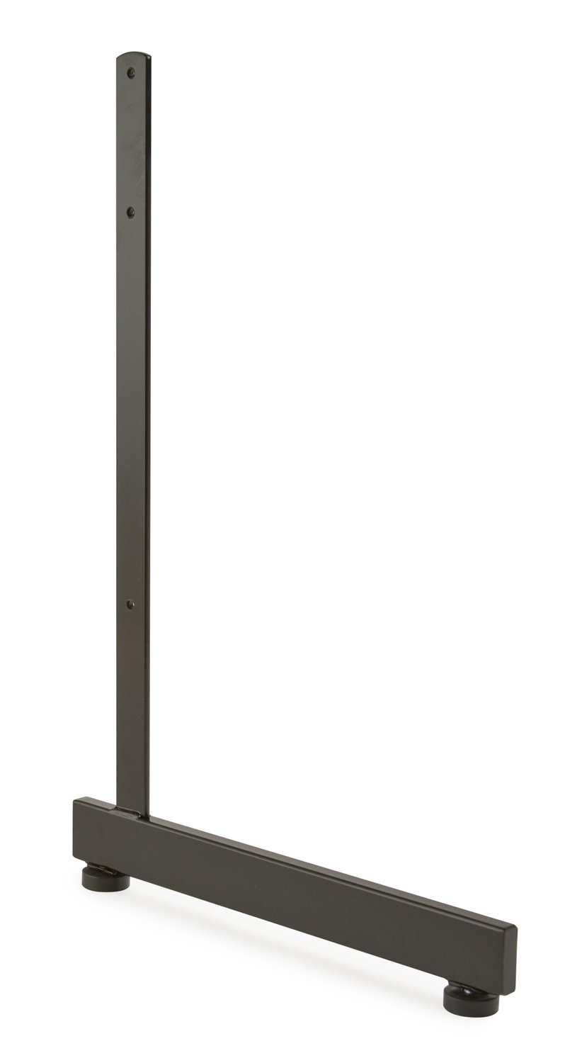 Econoco L-Shaped Leg for Grid Panel, Black (Pack of 12)