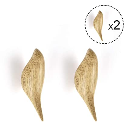 ANZOME Bird Coat Hook, 2 Pieces Wood Wall Hook, Wooden Coat Pegs Coat Hanger for Hanging Clothes, Hat, Scarves, Jackets and Headphone in Bedroom, ...