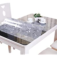 VALLEY TREE 1.5mm Clear Table Cover Protector PVC Desk...
