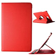 BeCool® - 360 Degree Rotating Tablet Case Flip Folio Stand to protect your Samsung Galaxy Tab A 10.1 2016, with a rotation system and stand function in colour Red