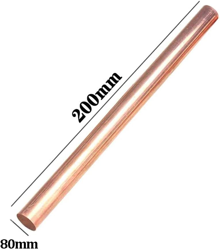 Metal Bar Cylinder 1 Pcs for DIY Laboratory Materials and Lathe Parts Processing GOONSDS Pure Copper Round Rods