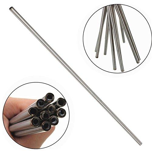MASUNN 5pcs OD 10mm x 8mm ID Stainless Pipe 304 Stainless Steel Capillary Tube Length 500mm