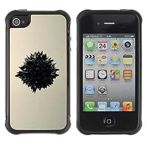 Planetar® ( Warp ) Apple iPhone 4 / 4S Hybrid Heavy Duty Shockproof TPU Fundas Cover Cubre Case