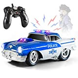Top Race Remote Control Police Car Toy, RC Car for Kids, Gift for Boys 2,3,4,5,6,7,8,9 Year olds | Lights and Sounds | Rubber Tires, Heavy Duty RC Police Car Toy Gift for Toddlers