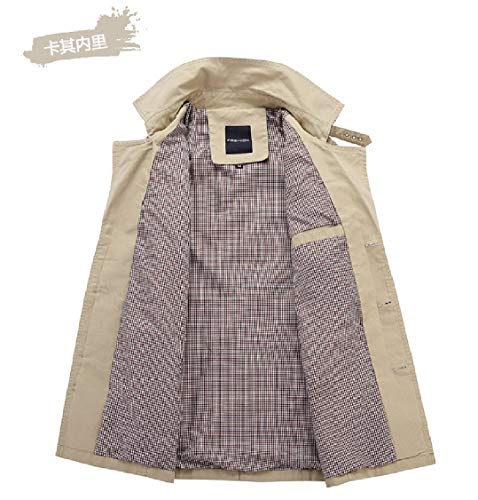 Dust Solid Khaki Coat EnergyMen Washed Jacket Quilted Down Collar Solid Turn 5Fqwg8