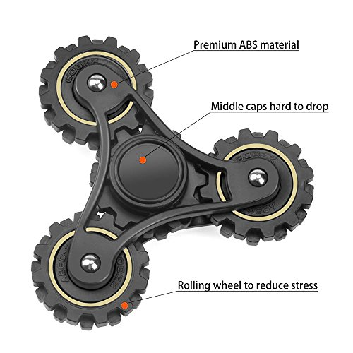 New gear Fidget Spinner Toy, rnairni Tri-spinner Fidget Toy Stress Reducer, Hand Spinner to Relieve work anxiety, Cool & Unique Design Fidget Spinner for Autism & ADHD Kids / Adult Funny Toy