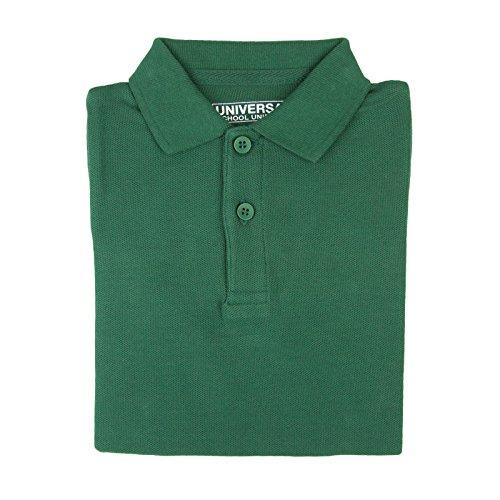 Baby Pique Polo - Universal School Uniform Baby Boys Short Sleeve Pique Polo Hunter Green Size 2T