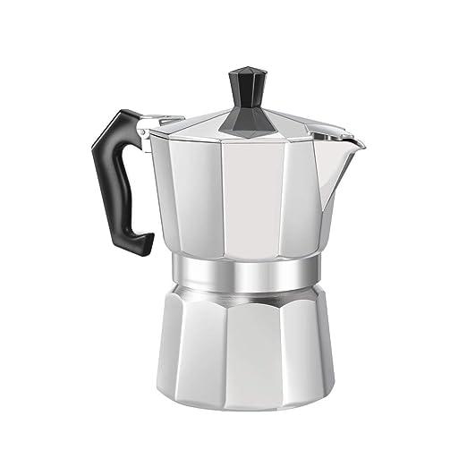 De aluminio de 8 Ángulo Moka Pot Espresso Fogón Cafetera Espresso ...