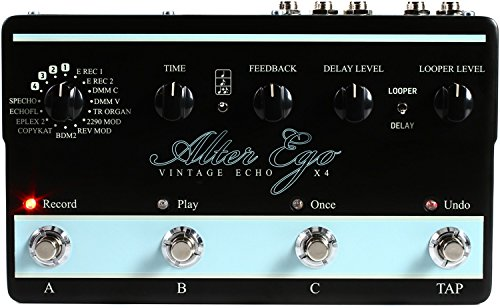 TC Electronic Alter Ego X4 Vintage Delay and Looper Pedal - Best Guitar Delay Pedal