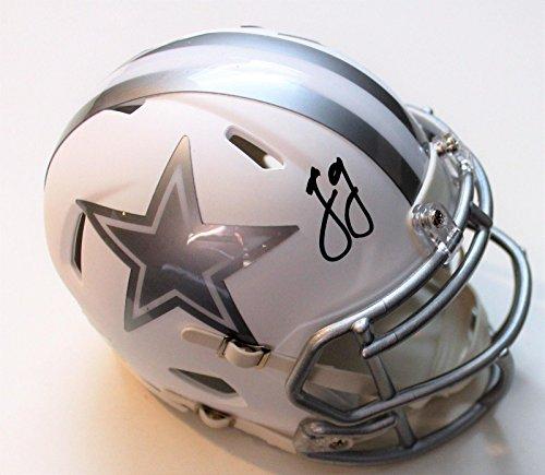 Jason Garrett Signed Helmet - Mini w COA ICE 2017 - Autographed NFL Mini Helmets