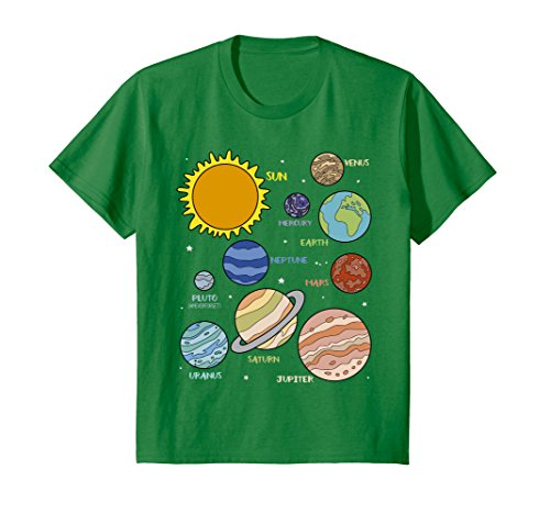 Kids Planets Universe Astronomy Science Education T-Shirt 4 Kelly ()